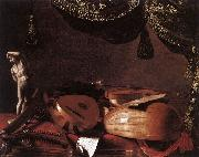 BASCHENIS, Evaristo Still-Life with Musical Instruments and a Small Classical Statue  www oil painting picture wholesale
