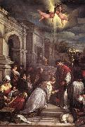 BASSANO, Jacopo St Valentine Baptizing St Lucilla  fgh oil painting picture wholesale