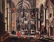 BASSEN, Bartholomeus van The Tomb of William the Silent in an Imaginary Church oil