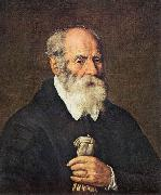 BASSETTI, Marcantonio Portrait of an Old Man with Gloves 22 oil