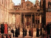 BASTIANI, Lazzaro The Relic of the Holy Cross is offered to the Scuola di S. Giovanni Evangelista oil painting picture wholesale
