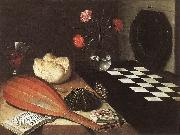 BAUGIN, Lubin Still-life with Chessboard (The Five Senses) fg oil painting artist