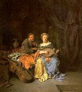 BEGA, Cornelis The Duet  hgg oil painting