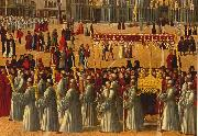 BELLINI, Gentile Procession in Piazza S. Marco (detail) ll95 oil