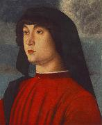 BELLINI, Giovanni Portrait of a Young Man in Red3655 oil painting picture wholesale