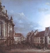 BELLOTTO, Bernardo Dresden, the Frauenkirche and the Rampische Gasse oil painting picture wholesale