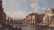 BELLOTTO, Bernardo View of the Grand Canal at San Stae oil