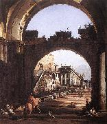BELLOTTO, Bernardo Capriccio of the Capitol oil