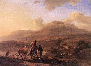 BERCHEM, Nicolaes Italian Landscape at Sunset oil painting artist