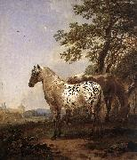 BERCHEM, Nicolaes Landscape with Two Horses oil painting