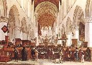 BERCKHEYDE, Gerrit Adriaensz. The Interior of the Grote Kerk (St Bavo) at Haarlem oil painting picture wholesale