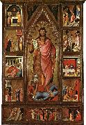 BIONDO, Giovanni del Altarpiece of the Baptist fgf oil painting artist