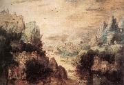 BLES, Herri met de Landscape with Christ and the Men of Emmaus fdg oil painting artist