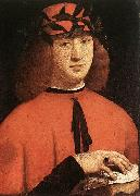 BOLTRAFFIO, Giovanni Antonio Portrait of Gerolamo Casio oil painting artist