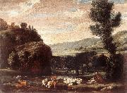 BONZI, Pietro Paolo Landscape with Shepherds and Sheep  gftry oil painting picture wholesale