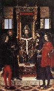 BORGOGNONE, Ambrogio St Ambrose with Saints fdghf oil