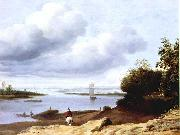 BORSSUM, Anthonie van Extensive River View with a Horseman dgh oil painting picture wholesale