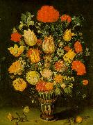 BOSSCHAERT, Ambrosius the Elder Still-Life of Flowers f oil