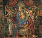 BOTTICELLI, Sandro San Barnaba Altarpiece (Madonna Enthroned with Saints) gfj oil painting picture wholesale