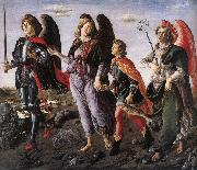 BOTTICINI, Francesco The Three Archangels with Tobias f oil painting picture wholesale