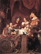 BRAY, Jan de The de Bray Family (The Banquet of Antony and Cleopatra) dg oil painting artist