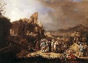 BREENBERGH, Bartholomeus The Preaching of St John the Baptist oil painting picture wholesale