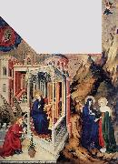 BROEDERLAM, Melchior The Annunciation and the Visitation d oil painting picture wholesale