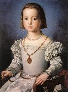 BRONZINO, Agnolo Bia, The Illegitimate Daughter of Cosimo I de  Medici oil painting artist