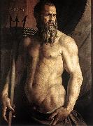 BRONZINO, Agnolo Portrait of Andrea Doria as Neptune df oil painting picture wholesale