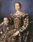 BRONZINO, Agnolo Eleonora of Toledo with her son Giovanni de  Medici oil painting artist