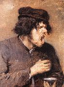 BROUWER, Adriaen The Bitter Draught d oil painting artist