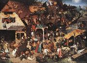 BRUEGEL, Pieter the Elder Netherlandish Proverbs oil painting picture wholesale