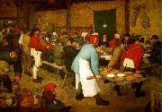 BRUEGEL, Pieter the Elder Peasant wedding fg oil painting picture wholesale