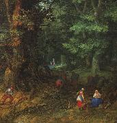 BRUEGHEL, Jan the Elder Rest on the Flight to Egypt, detail oil painting picture wholesale