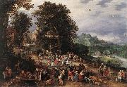 BRUEGHEL, Jan the Elder A Flemsh Fair ds oil
