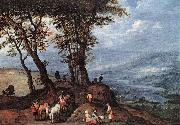 BRUEGHEL, Jan the Elder Going to the Market fdf oil painting picture wholesale