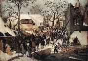 BRUEGHEL, Pieter the Younger Adoration of the Magi df oil painting