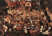 BRUEGHEL, Pieter the Younger Battle of Carnival and Lent f oil painting picture wholesale