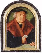 BRUYN, Barthel Portrait of Scholar Petrus von Clapis oil