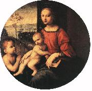 BUGIARDINI, Giuliano Virgin and Child with the Infant St John the Baptist oil painting artist