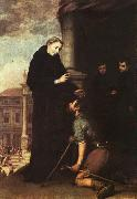 Bartolome Esteban Murillo St.Thomas of Villanueva Distributing Alms oil