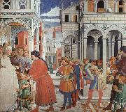 Benozzo Gozzoli The School of Tagaste oil