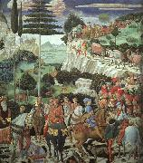 Benozzo Gozzoli Procession of the Magus Melchoir oil