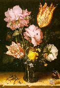 Berghe, Christoffel van den Bouquet of Flowers on a Stone Ledge oil