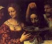 Bernadino Luini The Executioner Presents John the Bapist's Head to Herod oil painting artist