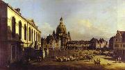 Bernardo Bellotto The New Market Square in Dresden. oil painting picture wholesale
