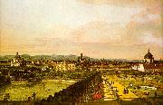 Bernardo Berlotto View of Vienna from the Belvedere oil