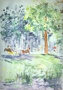 Berthe Morisot Carriage in the Bois de Boulogne oil painting picture wholesale