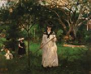 Berthe Morisot The Butterfly Hunt oil painting picture wholesale