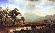 Bierstadt, Albert Haying, Conway Meadows oil painting picture wholesale